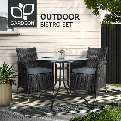 AU269.90 • Buy Gardeon Outdoor Setting Dining Chairs Table Wicker Bistro Set Patio Furniture