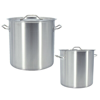 £150 • Buy 17/25/36/50/71/115L Deep Stock Pot Stainless Steel Cater Cooking Stew Soup Pot