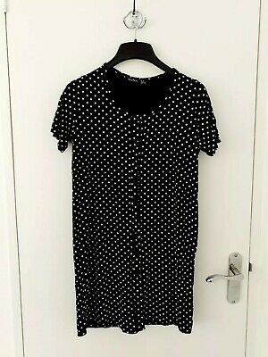 £8 • Buy Boohoo Maternity Polka Dot Button Front Nightie Size 10 BNWOT Black And White