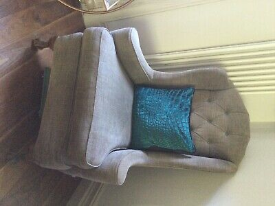 £400 • Buy Designers Guild Reupholstered Queen Anne's Chairs X2. Amazing Quality Antique.