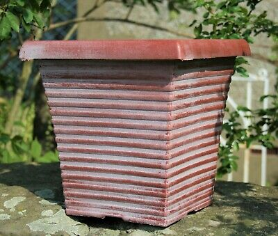 £13.95 • Buy 2 X Tall Tapered Square Garden Plant Pots Flower Pot Planters Patio Outdoor NEW