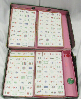 $89.99 • Buy Vintage 144 Lucite Three Layer Mahjong Tiles Yellow Clear White -F8
