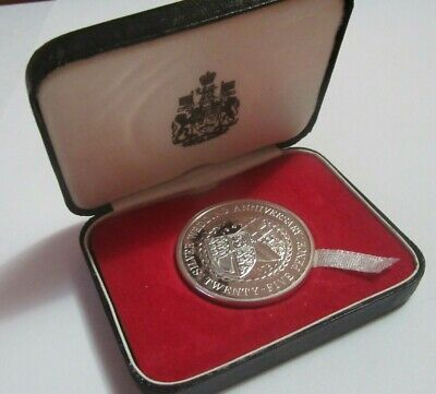 £16.05 • Buy 1972 Isle Of Man 25 Pence Silver Wedding Anniversary QEII Silver Proof Boxed *