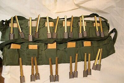 $46.95 • Buy 2 Military Issue M1 Carbine 10rd Stripper Clip 6 Pocket Bandoleer With Clips A4