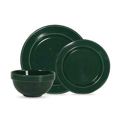 $46.12 • Buy Mainstays Speckled 12-Pc Round Stoneware Dinnerware Set Green Service For 4 NEW