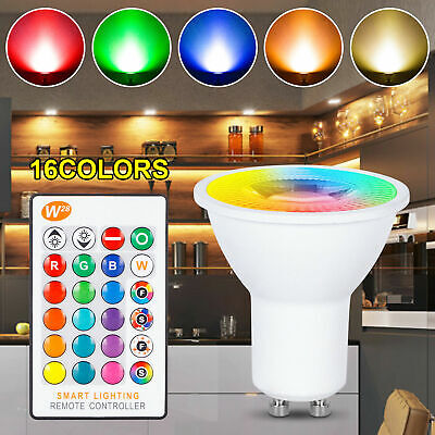 £5.39 • Buy GU10 5W LED Bulbs Light RGB 16Colour Changing Spotlight Lamp With Remote Control