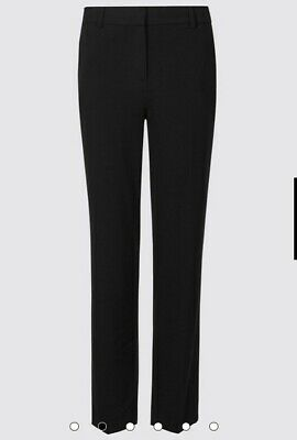 £1.99 • Buy Ladies Size 12 M&S Marks And Spencer Black Straight Leg Trousers Smart Work