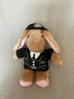 £9.95 • Buy Build A Bear Buddy Small Rabbit Brown With Pink Ears And Police Uniform