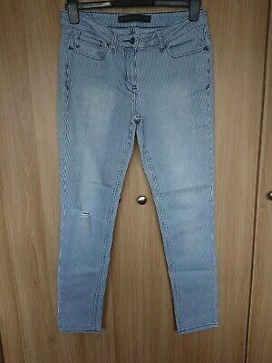 £6.50 • Buy Next Womens Blue White Striped Faded Ripped Relaxed Skinny Jeans Size 10 (12?)