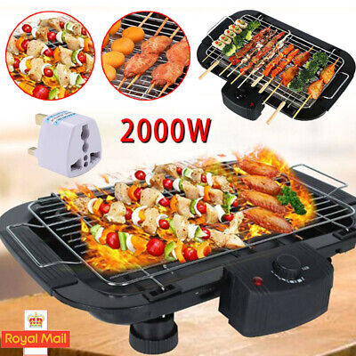 £20.99 • Buy Indoor/Outdoor Portable Electric Barbecue Grill Cooking Plate Meat Table UK