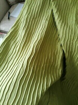 £30 • Buy Curtains Montgomery Lime Green Pencil Pleat Lined 90 X90 Ins Excellent Condition