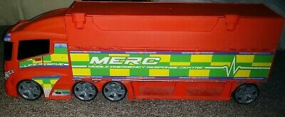 £1.99 • Buy Large Mobile Emergency Response Center Lorry Garage Car Toy Heliport (sounds)