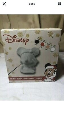 £6 • Buy Walt Disney Paint Your Own Money Box Money Bank With Paint And Brushes