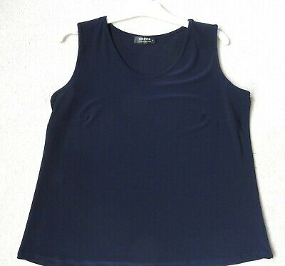 £1.95 • Buy Ladies Navy Swing Vest Top Size L Approx 16 Stretchy - FOREVER By Michael Gold