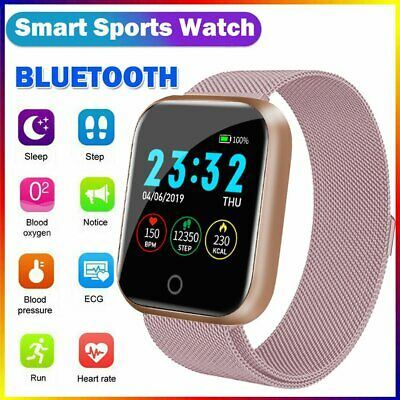 AU32.89 • Buy Fitbit Style Sports Smart Watch Heart Rate Blood Pressure Monitor IOS Android AU