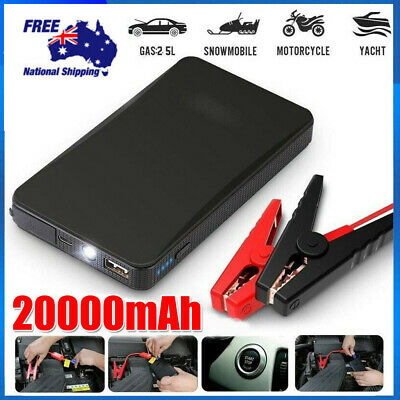 AU37.90 • Buy 12V 20000mAh Car Jump Starter Vehicle Battery Charger Booster Power Bank Pack