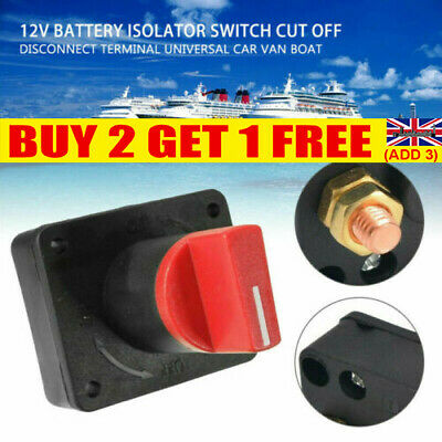 £5.99 • Buy 100A Battery Isolator Master Switch On/Off Marine Auto 12V For Car Boat Van UK