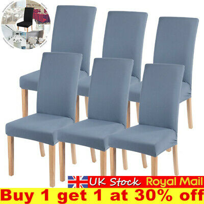 £3.68 • Buy Universal Stretch Elastic Dining Chair Covers Slipcover Party Room Seats Cover