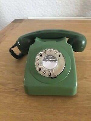 £9.99 • Buy VINTAGE 1960's GPO ROTARY DIAL 2 Tone Green Telephone   746  T M A 69/1