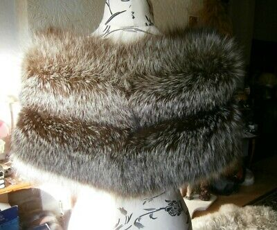 £155 • Buy Lovely Vtg 40s Real SILVER FOX Fur STOLE, Thick & Silky, Lovely Design, Ex Cond!
