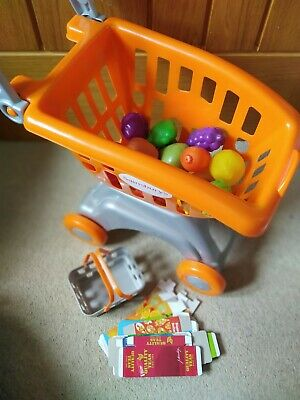 £5 • Buy Chad Valley Sainsburys Toy Shopping Trolley And Basket With Play Food
