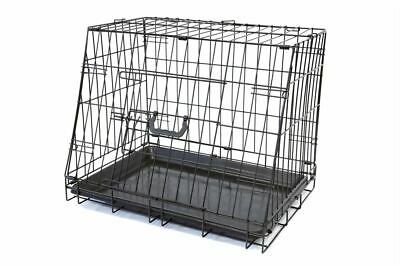 £32.99 • Buy Delux Collapsible Slanted Safe Pet Car Boot Dogs Transport Puppy Dog Crate Cage