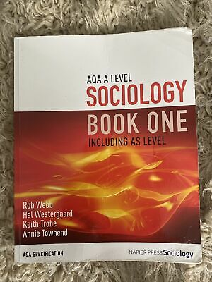 £9.99 • Buy AQA A Level Sociology Book One Including AS Level