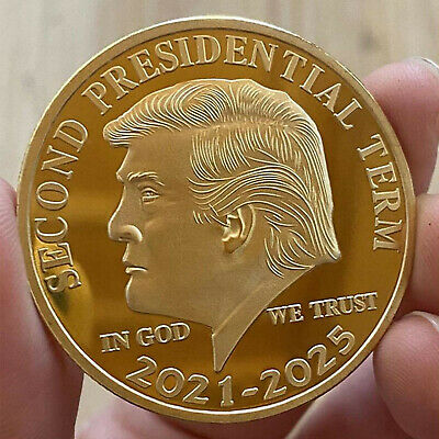 AU11 • Buy US Donald Trump Gold Commemorative Coin  Second Presidential Term 2021-2025