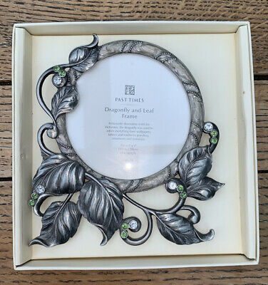 £7 • Buy Past Times Art Nouveau Dragonfly And Leaf Photo Frame In Pewter Rose Box