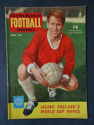 £5.25 • Buy Charles Buchan's Football Monthly June 1962 Issue 130 - England World Cup 1962