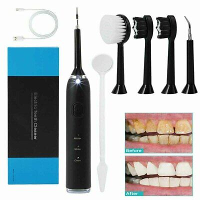 £13.69 • Buy 5 In 1 Tooth Polishing Cleaner Ultrasonic LED Electric Oral Teeth Cleaning Kit!