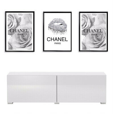 £6 • Buy Home Wall Decor Art Set Of Three Fashion Poster Prints Available In A4 Or A5