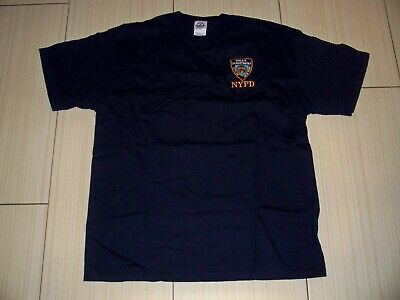 £10.62 • Buy Vintage New York City Police Dept T-Shirt NYPD New Never Worn SZ LG Embroidered