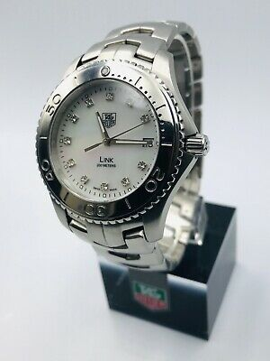 £595 • Buy Tag Heuer 'Link' Men's Watch With Diamond Dial - WJ1114