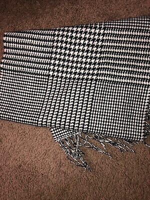 £6.87 • Buy Softer Than Cashmere NWT BLACK WHITE HOUNDSTOOTH SCARF