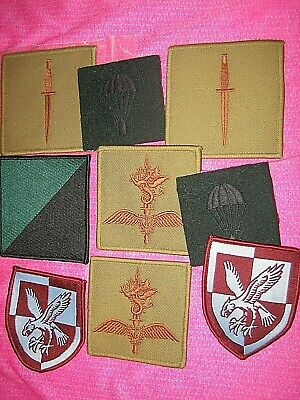 £7 • Buy Genuine ROYAL MARINES COMMANDO Dagger & Helicopter & PARACHUTE REG Cloth Patches