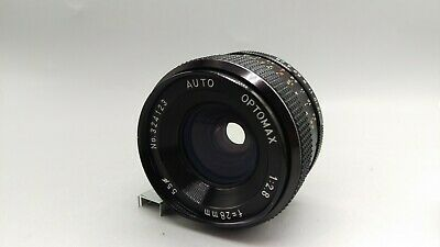 $8.27 • Buy Optomax Auto Vintage Wide Angle 1:2.8 F=28mm Lens M42 Screw Mount Blades Working