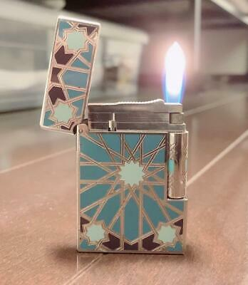 £791.53 • Buy St Dupont Gas Lighter Gatsby Andalusia Silver Turquoise Blue 2003