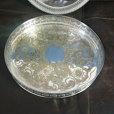 £5 • Buy Viners Of Sheffield Tray / Alpha Plate / Chased