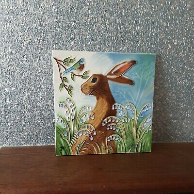 £16 • Buy Hare In Bluebells By Judith Yates 8x8  Decorative Ceramic Pictures Tiles