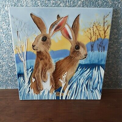 £16 • Buy Ceramic Hare  Picture Tile  8  X 8  Boxed