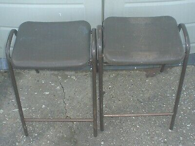 £39.99 • Buy VINTAGE RETRO 4 X 1980's HILLE ROBIN DAY FLAT TOP SCIENCE LAB / SCHOOL STOOLS