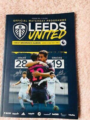 £17.50 • Buy Leeds United Vs West Brom Programme 23rd May 2021
