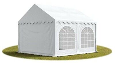 £72 • Buy Marquee Garden Tent 4x4m. White PVC. Steel-framed With Ground Bar Included.