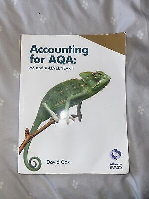 £10 • Buy Accounting For AQA: AS And A Level Year 1 By David Cox Text Book Osborne Books