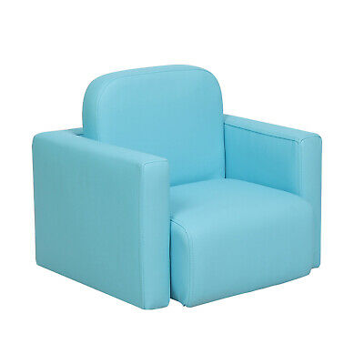 £19.99 • Buy Blue Mini Sofa Kids Activity Table Chair Set 3-in-1 Padded Armchair Boys Toddler