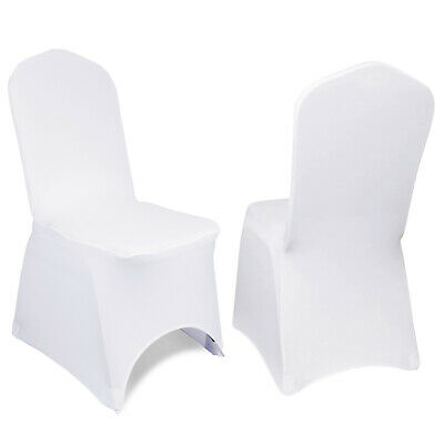 £99.99 • Buy 100pcs Chair Covers Dining Seat Slip Stretch Wedding Party Protective JOBLOT