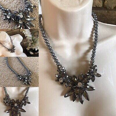 £5.50 • Buy Statement Costume Jewellery Necklace - Chunky Floral Design - Gorgeous Style
