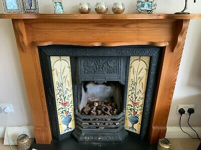 £195 • Buy Victorian Style Fireplace, Gas Fire, Hearth And Wooden Surround