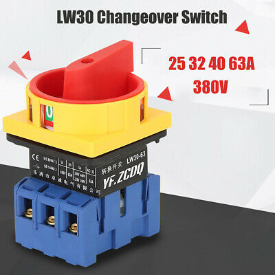 £11.99 • Buy Changeover Switch Rotary Selector 2 Position Cam Switch 6 Terminals